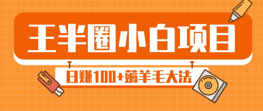"""王半圈小白项目,日赚100+薅羊毛大法,实现自动化""""羊毛收割机"""""""